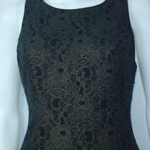 NWT Black & Gold Lace Dress Sz L
